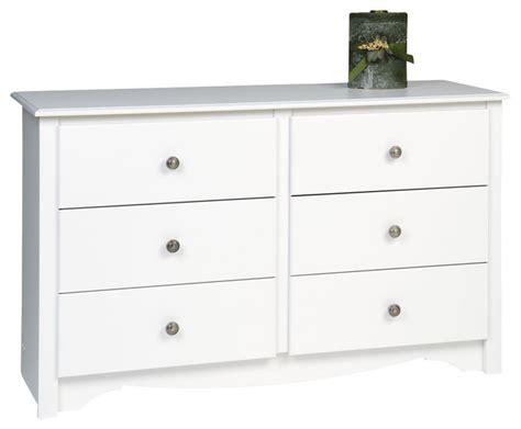 48 Inch White Dresser prepac monterey white 48 inch youth size 6 drawer dresser