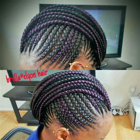 cornrow mohawk   hint  color natural hair style
