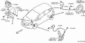 Nissan Versa Note Abs Wheel Speed Sensor  Rear   Skid