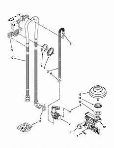 Fill  Drain And Overfill Parts Diagram  U0026 Parts List For Model Mdb8949saw0 Maytag