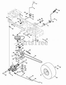 Troy-bilt Parts On The Transmission Drive Assembly Diagram For 13an77kg011