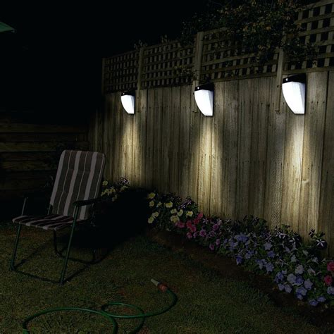 outdoor solar l post lights sun glow white mount solar powered wall light sgw w the