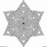 Geometric Coloring Pages Print sketch template