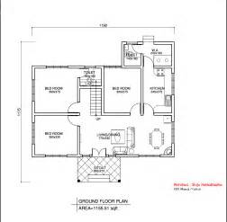 simple houseplans simple kerala style home design at 1155 sq ft