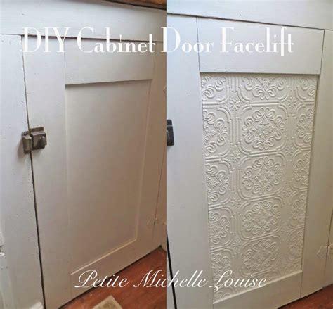 Diy Kitchen Cabinet Refacing Ideas - petite michelle louise diy cabinet door facelift