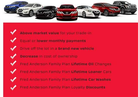 vehicle exchange program fred anderson nissan  asheville