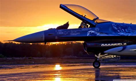 Military Aircraft Sunrise 4k Hd Desktop Wallpaper F 16
