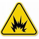 Explosion Warning Symbol Iso Sign Flash Arc