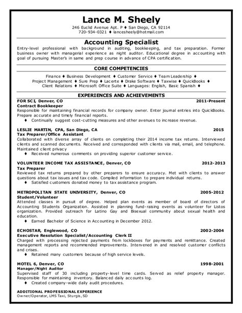 Assistant Tax Manager Resume by Lance Sheely Resume Topresume 2015 06 23