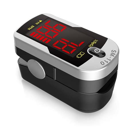 Deluxe SM-110 Two Way Display Finger Pulse Oximeter with