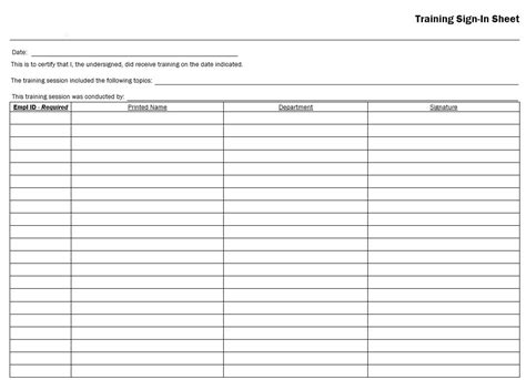 sample army training sign  sheet templates