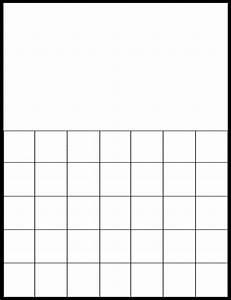 Calendar Grid Printable Monthly Calendar Grid Printable Calendar 2020