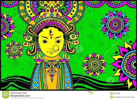 Happy Dussehra With Goddess Durga Vector Illustration