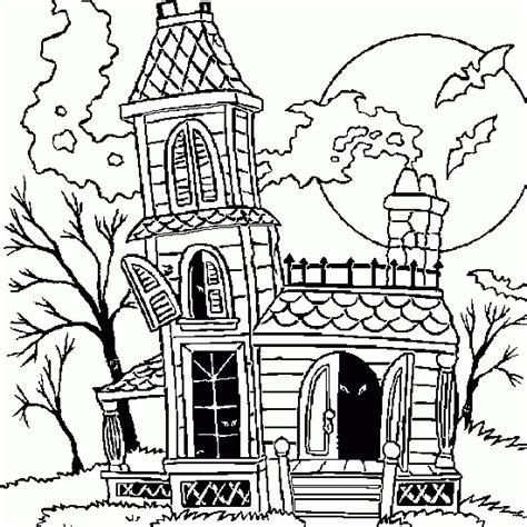 jeux de maison hantee dessin de maison hant 233 e coloriages d 224 imprimer