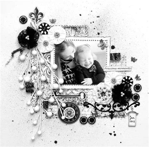 1000 images about black and white scrapbooking on snowflakes circles and scrapbooking