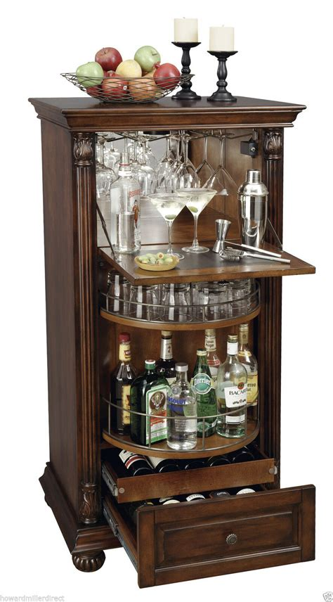 wine console cabinet howard miller 695 078 cognac cherry wine bar cabinet