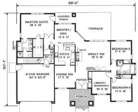 single storey house plans one home 6994 4 bedrooms and 2 5 baths the house designers