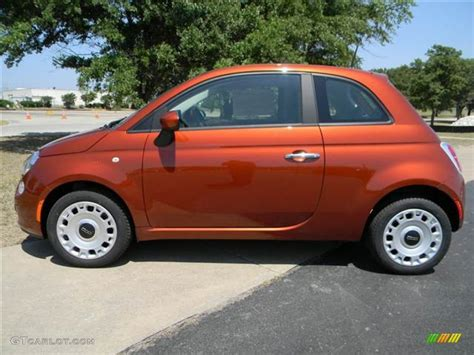 Fiat 500 Orange by Rame Copper Orange 2012 Fiat 500 Pop Exterior Photo
