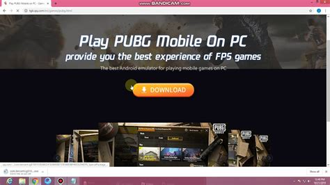 Visit the official tencent emulator download site and click on the download button; how to download tencent gaming buddy - YouTube