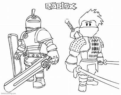 Coloring Roblox Printable Ninja Knight Colouring Sheets
