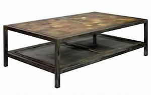 Table Bois Et Fer : magnifique table basse rectangulaire industrielle atelier fer et bois ~ Teatrodelosmanantiales.com Idées de Décoration
