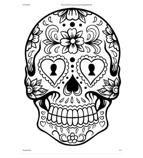 sugar skull template skull drawing template 14 free pdf documents free premium templates