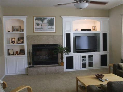 custom wall unit built  cabinets