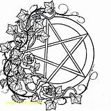 Coloring Wiccan Pagan Sewing Machine Adult Printable Mandala Adults Bubble Gum Colouring Gumball Drawings Witch Pentacle Earth Moon Getcolorings Symbols sketch template