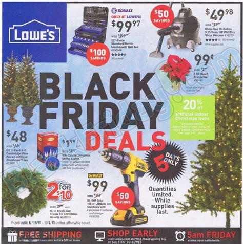 lowes deals lowes black friday ad 2013 black friday 2013 ads 2013 living rich with coupons 174