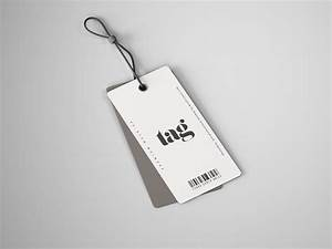 clothes double tag mockup psd With clothing tag mockup