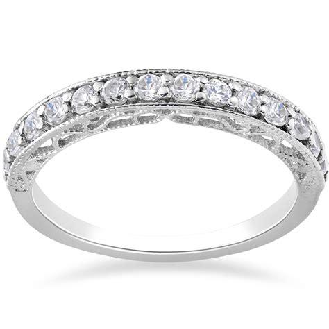1 2ct vintage diamond wedding ring 14k white gold ebay