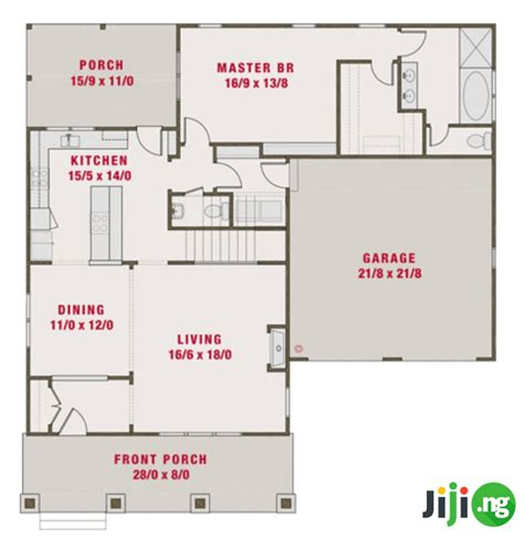 bedroom bungalow house plans  nigeria jiji blog