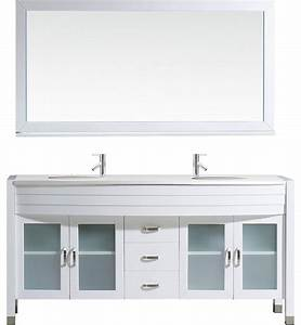 ava double bathroom vanity cabinet set white 63 With ava bathroom furniture