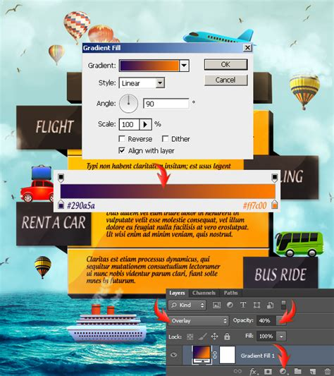 Create A Travel Agency Advertisement In Photoshop