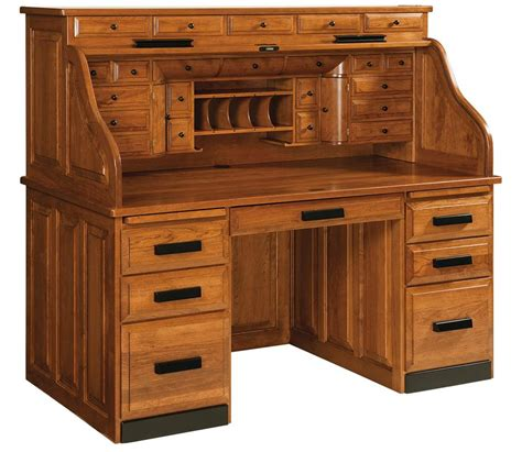 desk with drawers classic deluxe roll top desk with optional top drawers from