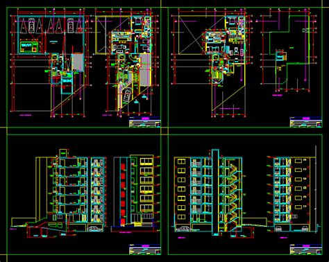 multifamily building dwg section  autocad designs cad