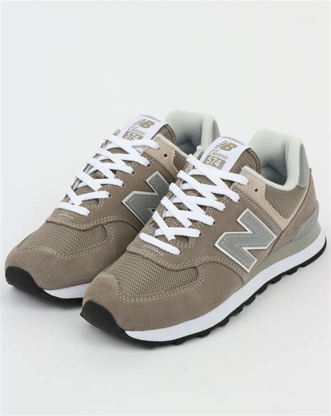 new balance 574 trainers grey grey running shoes suede