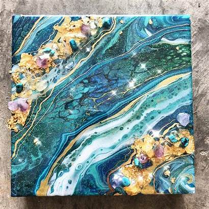 Geode Painting Acrylic Geodes Pouring Acrylicpouring Into