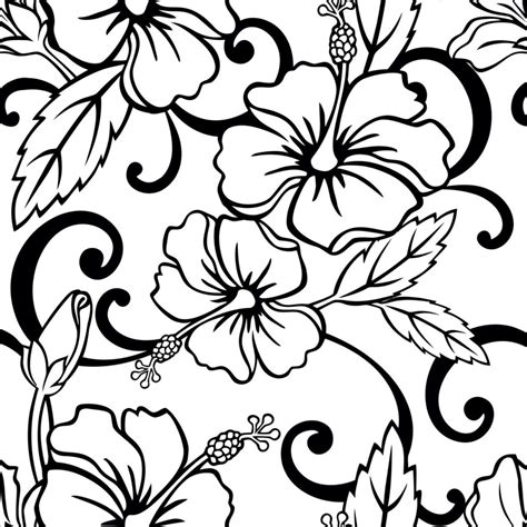 papel de parede floral preto e branco r 45 00 em