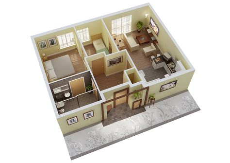 3 bed bungalow floor mathematics resources project 3d floor plan autocad 3