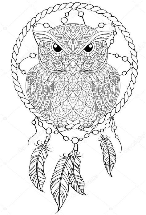 lapac snu  sova tetovani nebo dospeleho antistresove