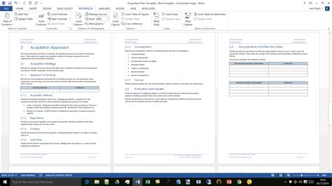 acquisition plan template ms word excel templates