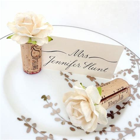 25 best ideas about cork place cards on wine