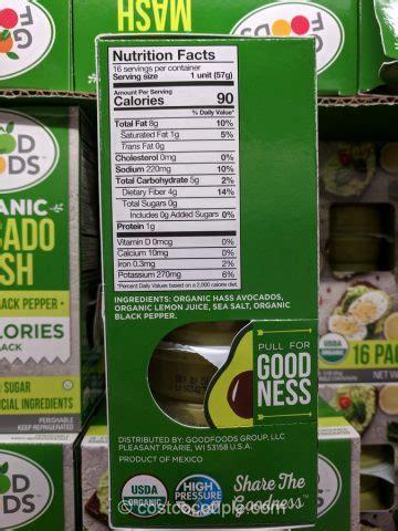 good foods organic avocado mash