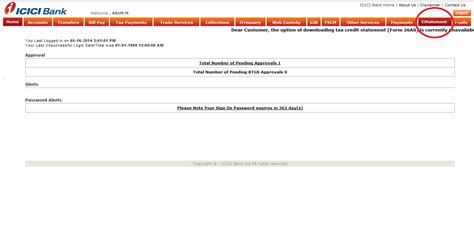 view  statement demo icici bank