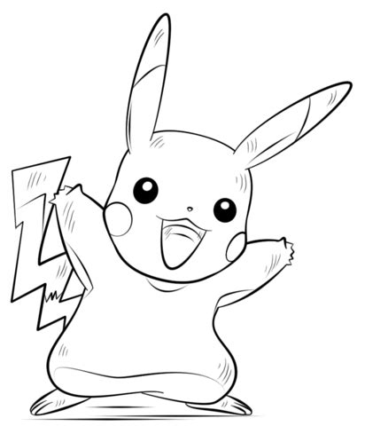 Pikachu Pokemon coloring page Free Printable Coloring Pages