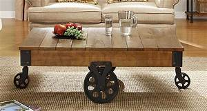 coffee tables ideas rustic coffee table with wheels easy With rustic coffee table with casters