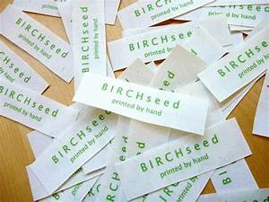b i r c h s e e d printed by hand tutorial how to With how to print product labels at home
