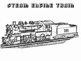Steam Coloring Train Engine Railroad Locomotive Pages Print Template Clrg sketch template