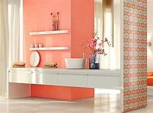Carrelage Salle De Bain Couleur : carrelage pour salle de bains jeu de couleurs et formes ~ Melissatoandfro.com Idées de Décoration